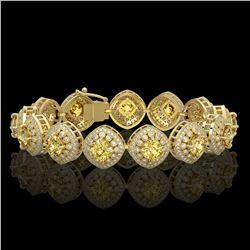 66 ctw Pink Tourmaline & VS/SI Diamond Necklace 14K White Gold