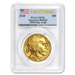 2020 1 oz Gold Buffalo MS-70 PCGS (FirstStrike®)