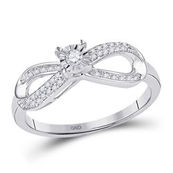 10kt White Gold Round Diamond Square Cluster Bridal Wedding Engagement Ring Band Set 1/3 Cttw
