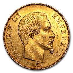 1855-1859 France Gold 50 Francs Napoleon III BU