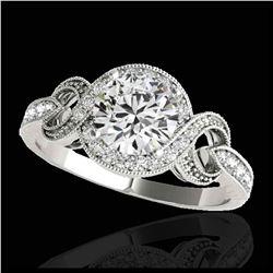 1.50 ctw SI/I Fancy Intense Yellow Diamond Ring 10K Rose Gold