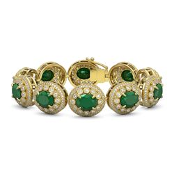 7.88 ctw Tourmaline & Diamond Halo Earrings 10K White Gold