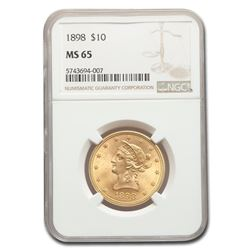 1898 $10 Liberty Gold Eagle MS-65 NGC