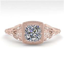 1.25 ctw VS/SI Oval Diamond Ring 10K Rose Gold