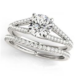 1.06 ctw Solitaire VS/SI Diamond Ring 14K White Gold