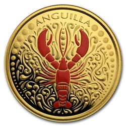 2018 Anguilla 1 oz Gold Lobster (Colorized)