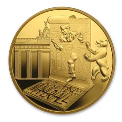 2019 France Proof Gold 50 30th Ann. Fall of the Berlin Wall