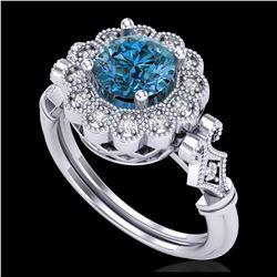 2.14 ctw Princess VS/SI Diamond Art Deco 3 Stone Ring 18K Yellow Gold
