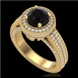 2.56 ctw H-SI/I Diamond Solitaire Halo Ring 10K Rose Gold