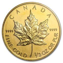 2003 Canada 1/2 oz Gold Maple Leaf BU