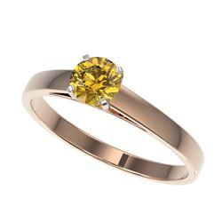 1.0 ctw Black Diamond Stud Earrings 18K Yellow Gold