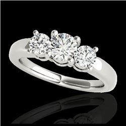 2.16 ctw VS Black Diamond Solitaire Halo Ring 10K White Gold