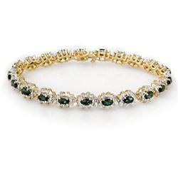 29.89 ctw Swiss Topaz & Diamond Bracelet 14K White Gold