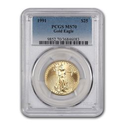 1991 1/2 oz Gold American Eagle MS-70 PCGS