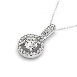 1.10 ctw VS/SI Diamond Solitaire Art Deco Ring 14K White Gold