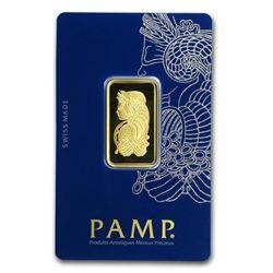 1/2 oz Gold Bar - PAMP Suisse Lady Fortuna Veriscan® (In Assay)