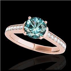 1.60 ctw VS Black Diamond Solitaire Halo Ring 10K Rose Gold