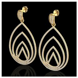 3 ctw Citrine & VS/SI Diamond Cluster Ring  10K Yellow Gold