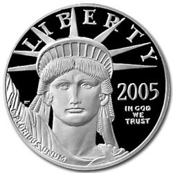2005-W 1 oz Proof Platinum American Eagle (Capsule Only)