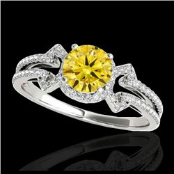 1.55 ctw H-SI/I Diamond Solitaire Ring 10K Yellow Gold