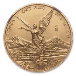 2013 Mexico 1 oz Gold Libertad MS-70 NGC
