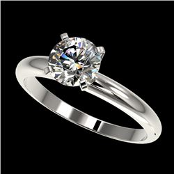 2.75 ctw Amethyst & VS/SI Diamond Halo Necklace 18K White Gold