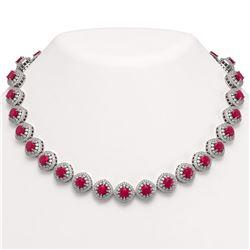 8.66 ctw Emerald & Diamond Necklace 14K Yellow Gold