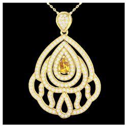 177 ctw Sky Blue Topaz & Diamond Necklace 14K White Gold