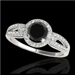 1 ctw VS/SI Diamond Necklace Halo 18K White Gold