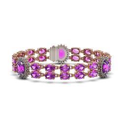 13.5 ctw Princess Diamond Bracelet 18K Rose Gold