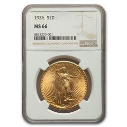 1926 $20 Saint-Gaudens Gold Double Eagle MS-66 NGC