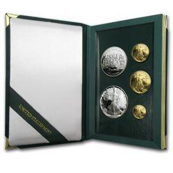 1993 5-Coin Proof Gold & Silver Philadelphia Set (w/Box & COA)