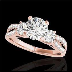 2.01 ctw Fancy Black Diamond Art Deco Earrings 18K Rose Gold