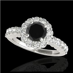 1.15 ctw Fancy Intense Blue Diamond Art Deco Necklace 18K Rose Gold