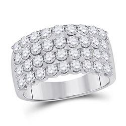 14kt Yellow Gold Round Diamond 3-stone Bridal Wedding Engagement Ring 1-1/2 Cttw
