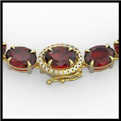 23.5 ctw Sapphire & VS/SI Diamond Eternity Bracelet 10K Yellow Gold