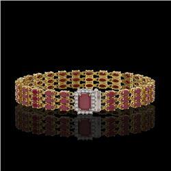 3 ctw SI/I Fancy Intense Yellow Diamond 3 Stone Ring 10K Rose Gold