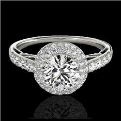 2.15 ctw VS Black Diamond Solitaire Halo Ring 10K Rose Gold