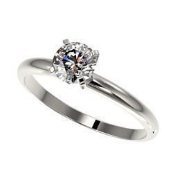 1.09 ctw Blue Sapphire & Diamond Ring 18K White Gold