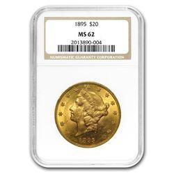 1895 $20 Liberty Gold Double Eagle MS-62 NGC
