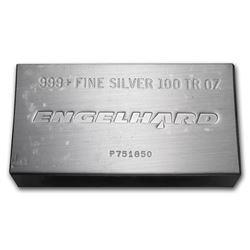 100 oz Silver Bar - Engelhard (Struck\, w/Original Plastic)