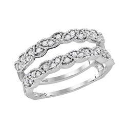 14kt Two-tone Gold Round Diamond Bridal Wedding Engagement Ring Band Set 1.00 Cttw