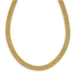 14k Yellow Gold w/2in ext. Fancy Choker Necklace - 18 in.
