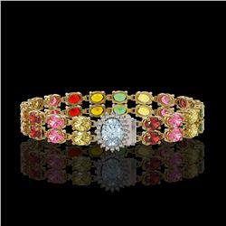 2.50 ctw Sky Blue Topaz & VS/SI Diamond Earrings 10K Rose Gold