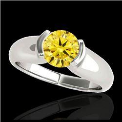 1.93 ctw SI Fancy Blue Diamond Halo Ring 10K White Gold