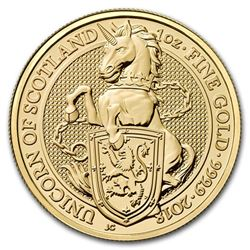 2018 Great Britain 1 oz Gold Queen's Beasts The Unicorn