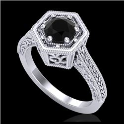 1.15 ctw SI Fancy Blue Diamond Solitaire Ring 10K Rose Gold