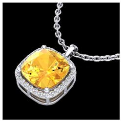 1 ctw VS/SI Oval Diamond Necklace 10K Yellow Gold