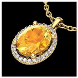 0.73 ctw Intense Blue Diamond Necklace 10K Rose Gold