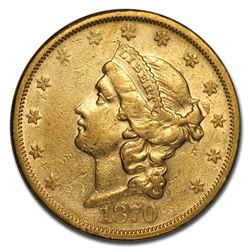 1870-S $20 Liberty Gold Double Eagle XF